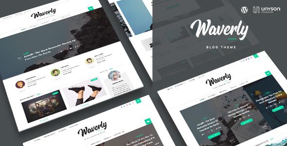 Download Waverly - Modern WordPress Blog Theme Modern WordPress Themes