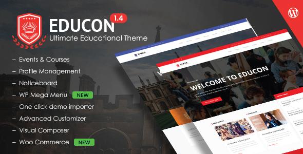 Download Educon - Education WordPress Theme Education WordPress Themes