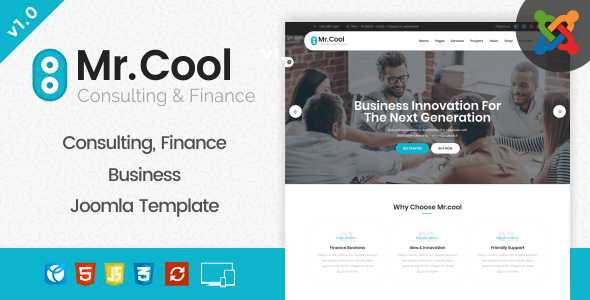 Download Mr. Cool - Consulting, Finance & Business Joomla Template Blog Joomla Templates