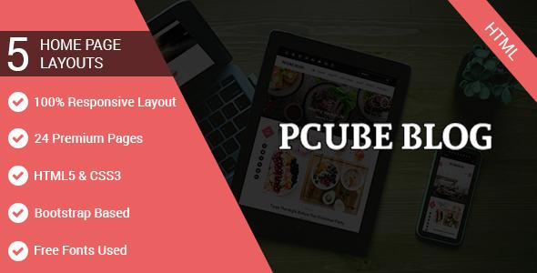 Download P Cube Blog Travel Blogger Templates