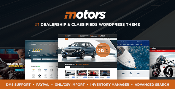 Download Motors - Automotive, Car Dealership, Car Rental, Vehicle, Bikes, Classified Listing WordPress Theme Automotive WordPress Themes