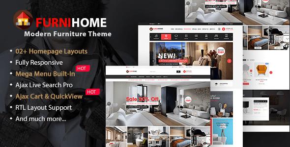 Download FurniHome - Furniture WooCommerce WordPress Theme Furniture WordPress Themes