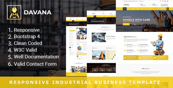 Download Davana - Responsive Industrial Business HTML Template Business Html Templates
