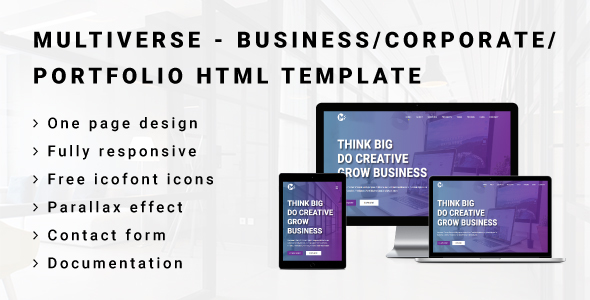 Download MULTIVERSE - Multipurpose Business/Corporate/Portfolio HTML Template Youtube Html Templates