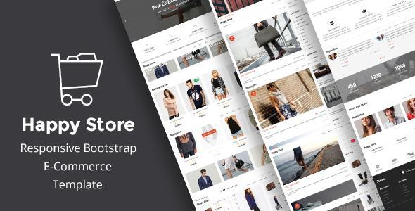 Download HappyStore   Simple eCommerce HTML Template Simple Html Templates