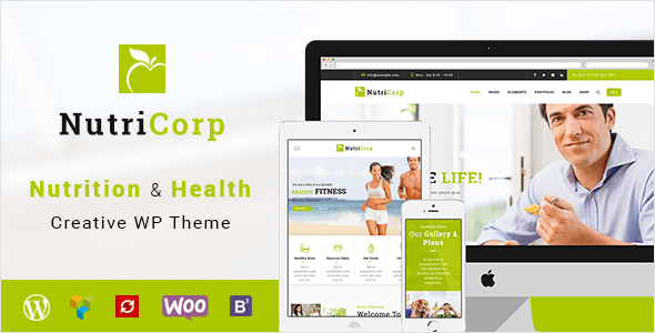 Download Nutricorp | Nutrition & Health Creative WordPress Theme Health WordPress Themes
