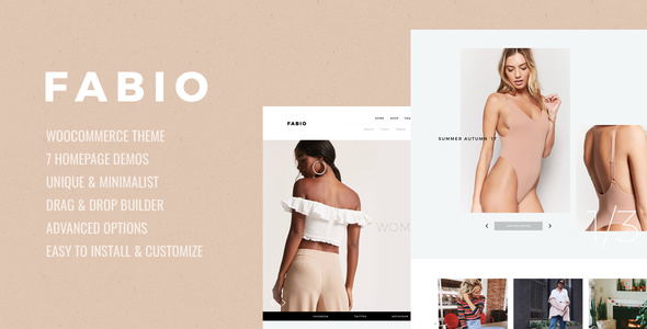 Download Fabio WooCommerce Shopping Theme Black WordPress Themes
