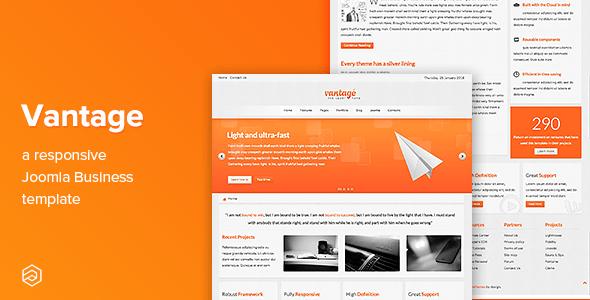 Download Vantage - Responsive Business Joomla Template Fast Load Joomla Templates