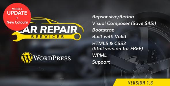 Download Car Repair Services & Auto Mechanic WordPress Theme Automotive WordPress Themes