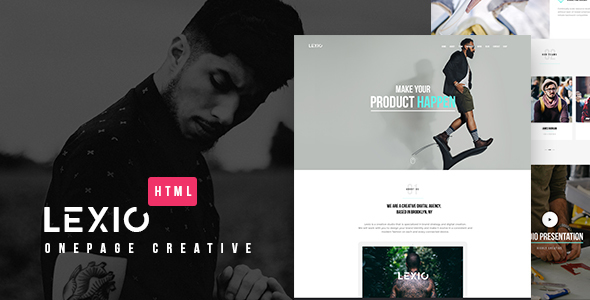Download Lexio - Onepage Creative HTML Template Onepage Blogger Templates