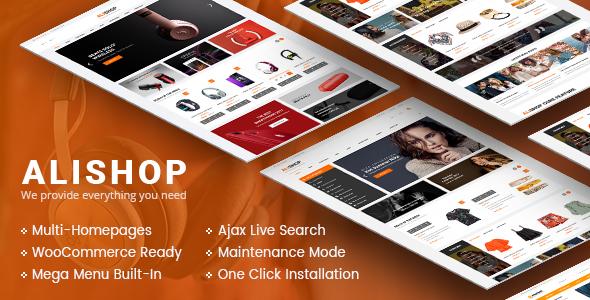 Download AliShop - Multipurpose WooCommerce WordPress Theme Woocommerce WordPress Themes