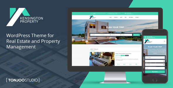 Download Kensington - Real Estate and Property Management WordPress Theme Property WordPress Themes
