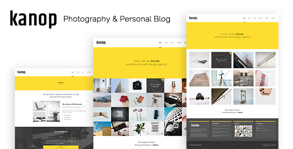 Download Kanop - Photography & Personal Blog HTML Template Blog Html Templates