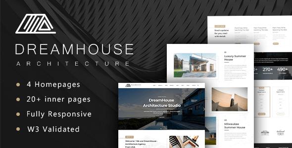 Download Dreamhouse - Architecture & Interior Design Template Furniture Html Templates