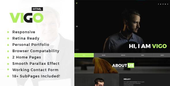 Download Vigo : Personal Portfolio HTML Template Portfolio Html Templates