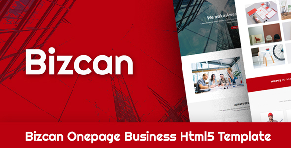 Download BIZCAN Onepage Business HTML5 Template Onepage Blogger Templates