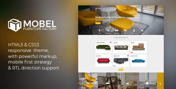 Download Mobel - Furniture HTML Template Furniture Html Templates