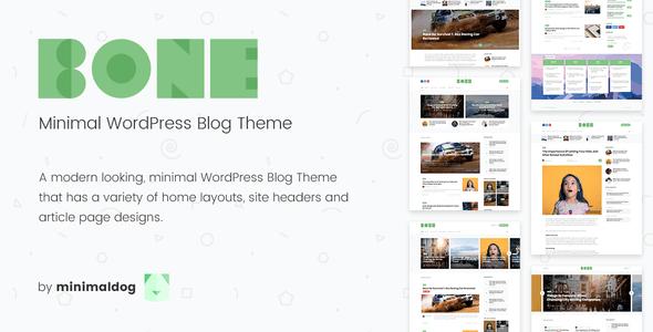 Download Bone - Minimal & Clean WordPress Blog Theme Clean WordPress Themes