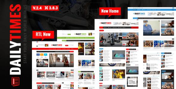 Download DailyTimes - News and Magazine Joomla Template Magazine Joomla Templates