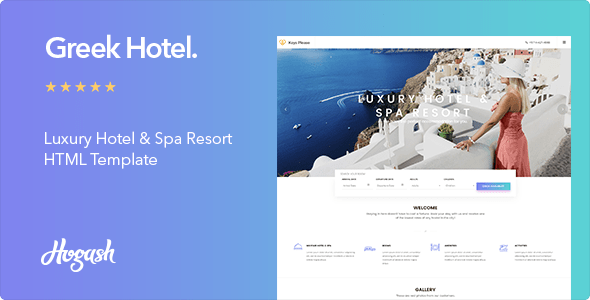 Download Greek Hotel - Hotel HTML Template Hotel Html Templates