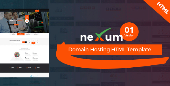 Download neXum Host - Hosting and Domain HTML Template Amp Html Templates