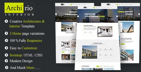 Download Archirio Interior HTML Template Furniture Html Templates