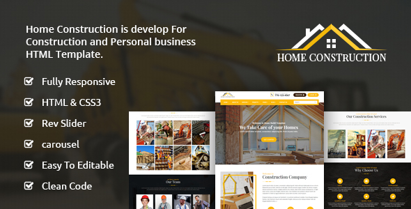 Download Home Construction – Construction Business HTML Template Business Html Templates