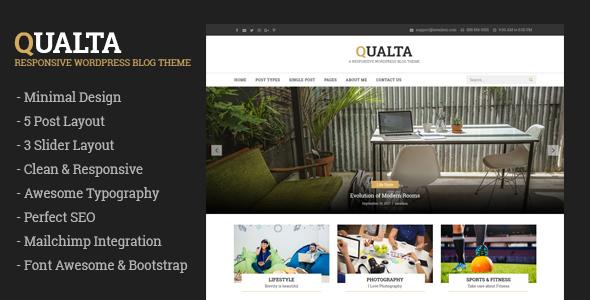 Download Qualta - Responsive WordPress Blog Theme Fashion Blogger Templates