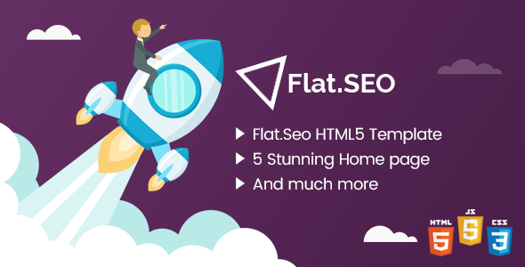 Download Flat SEO - HTML Bootstrap 4 Template Coming Soon WordPress Themes