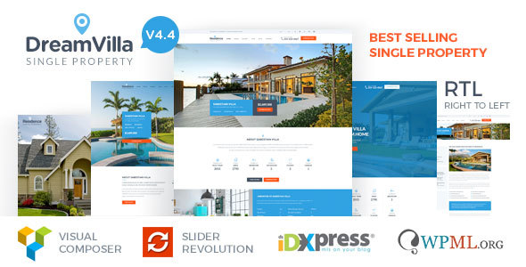 Download DreamVilla - Single Property Real Estate WordPress Theme Property WordPress Themes