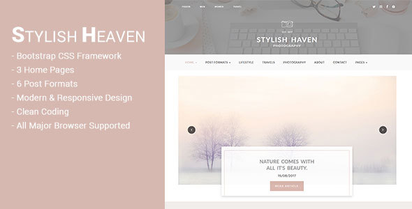 Download Stylish Heaven - Personal Blog - HTML Template Blog Html Templates