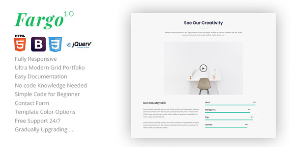 Download Fargo - One Page Landing Template Onepage Blogger Templates