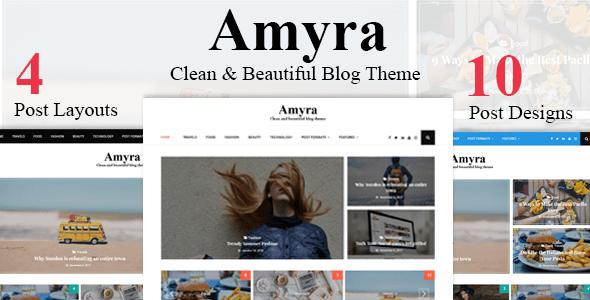 Download Amyra - Clean WordPress Blog Theme Clean WordPress Themes