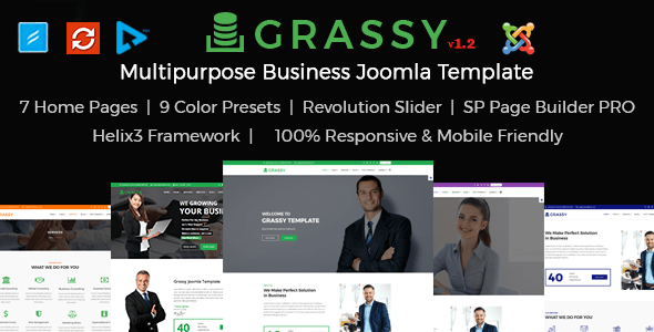 Download Grassy Business - Business, Corporate and  Finance Joomla Template Elegant Joomla Templates
