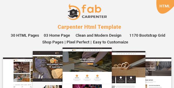 Download Fab Carpenter | Carpenter, Wood Carpentry HTML5 Template Wood Joomla Templates