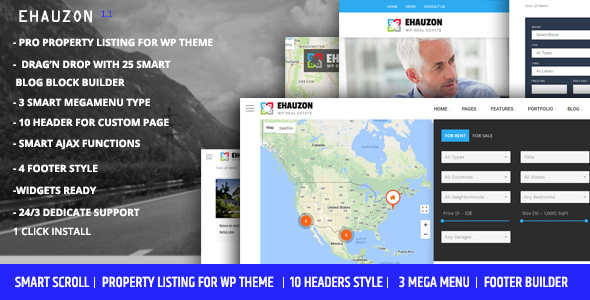 Download Ehauzon - Property Listing for WordPress Theme Property WordPress Themes