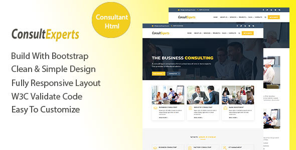 Download ConsultExpert – Consulting Business Template Fast Html Templates