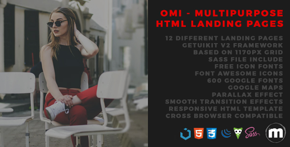 Download Omi - Multipurpose HTML Landing Pages Game Html Templates