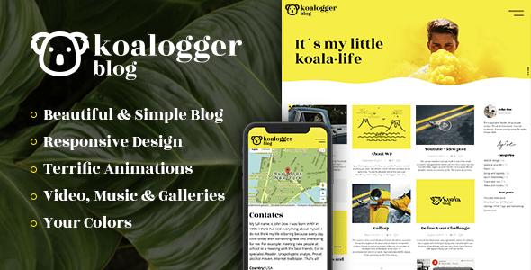 Download Koalogger - Simple WordPress Blog Theme + RTL 3 Column WordPress Themes