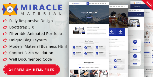 Download Miracle Material Business HTML Template Business Html Templates