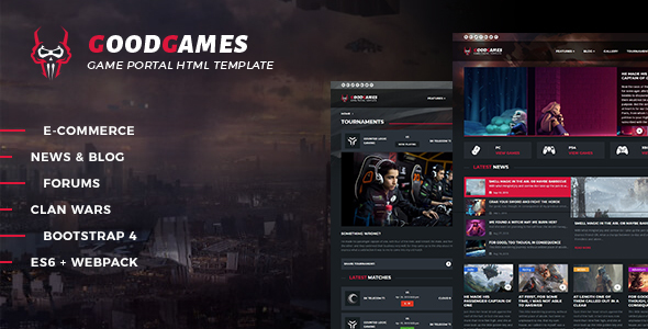 Download Good Games - Portal / Store HTML Gaming Template Portal Html Templates