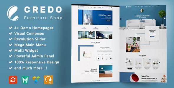 Download Credo - Furniture Responsive WooCommerce WordPress Theme Furniture WordPress Themes