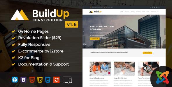 Download Buildup – Construction Joomla Template Amp Joomla Templates