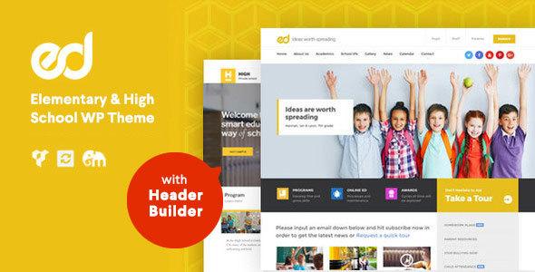 Download Ed School: Education, Elementary-High School WordPress Theme School WordPress Themes
