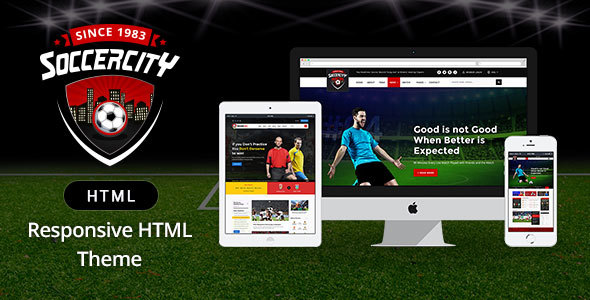 Download Soccer Sports - Soccer & Sports HTML Template Game Html Templates