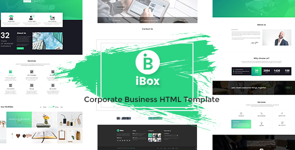 Download Ibox - Corporate Business HTML Template Business Html Templates