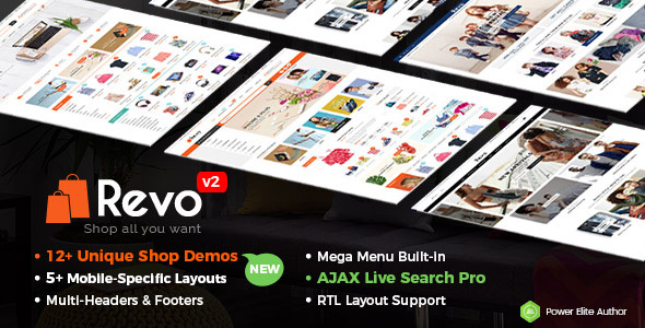 Download Revo - Multi-purpose WooCommerce WordPress Theme (12+ Homepages & 5 Mobile Layouts Included) WordPress Themes 2017