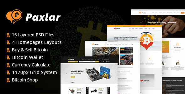 Download Paxlar - Bitcoin Crypto Currency Template Store Blogger Templates