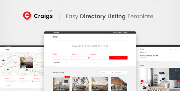 Download Craigs - Directory Listing Template Fast Load Html Templates
