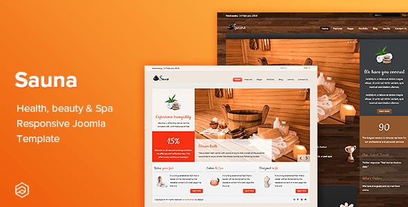 Download Sauna - Health, Beauty & Spa Responsive Joomla Template Fast Load Joomla Templates